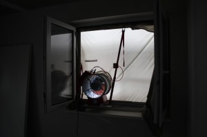 Blower-Door-Test (Bild)